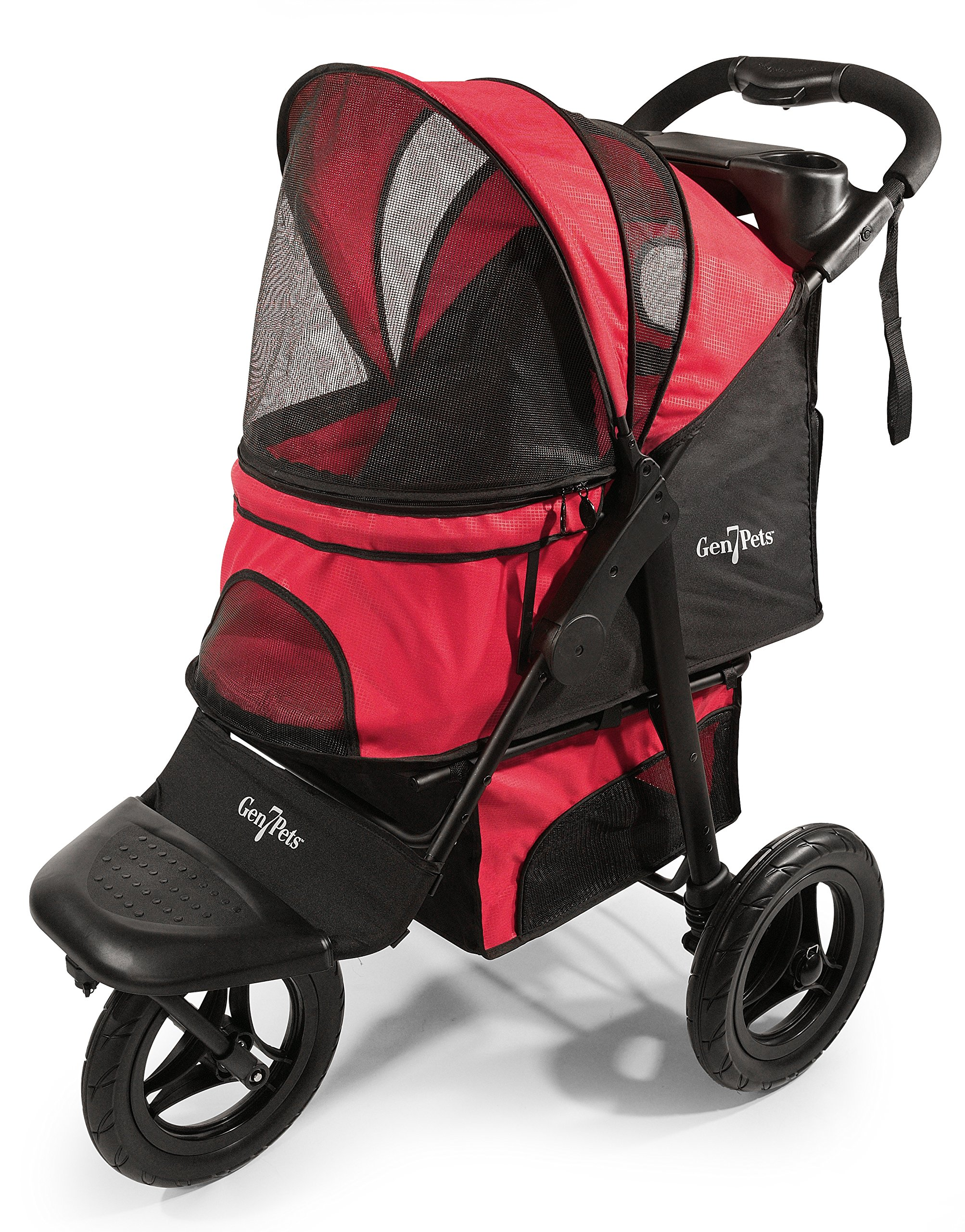 Gen7Pets G7 Jogger Pet Stroller for Dogs or Cats Up to 75 lb, Pathfinder Red by Gen7Pets
