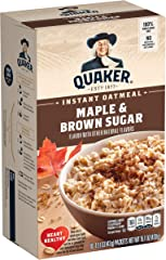 Quaker, Instant Oatmeal, Maple Brown Sugar, 10 Ct