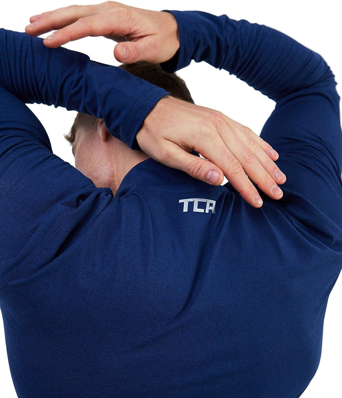 TCA Mens Fusion Pro Quickdry Long Sleeve Half-Zip Running Shirt