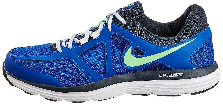 super popular 15514 4c9e8 Nike Dual Fusion Lite 2 MSL Hommes - - Bleu Lion Vert Poison - Gris  Anthracite Classique - Blanc, 13 D(M) US EU  Amazon.fr  Chaussures et Sacs