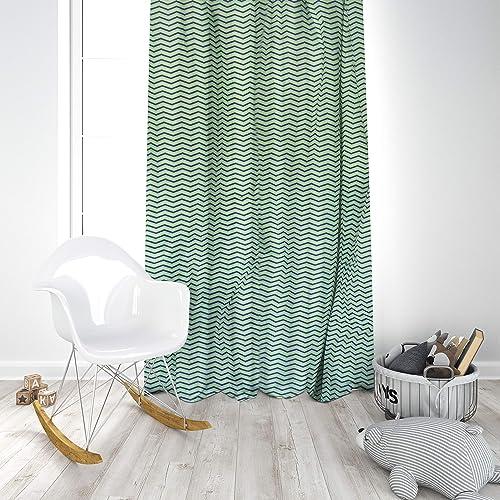 Pam Grace Creations Curtain Panels, Zigzag Elephant, 34 x 84