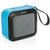 Wireless Bluetooth 4.1 Speaker by Gembonics, Best Shockproof Waterproof Shower Speakers with 10 Hour Rechargeable Battery Life, Powerful 5W Audio Driver, Pairs with All Bluetooth Devices (Blue)