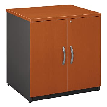 bush furniture series c wood storage cabinet in auburn maple amazon co uk office products