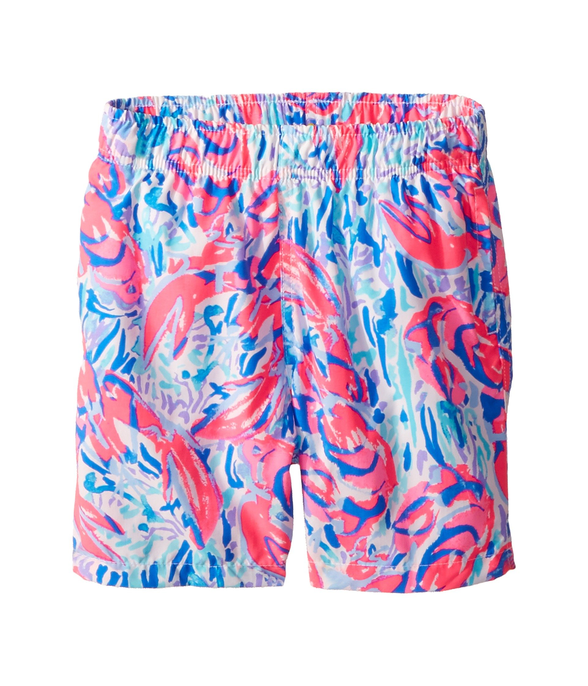 Lilly Pulitzer Kids Boy's Capri Trunks (Toddler/Little Kids/Big Kids) Cosmic Coral/Cracked Up LG (8/10 Big Kids) by Lilly Pulitzer