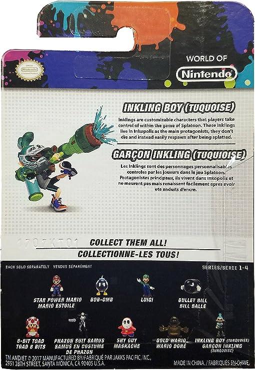 Nintendo World of Inkling Boy (Turquoise) Exclusive 2.5 Figure