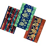 Espalma Tropical Oversized 3 Piece Jacquard Beach Towel Set – Extra Large 36 Inch x 68