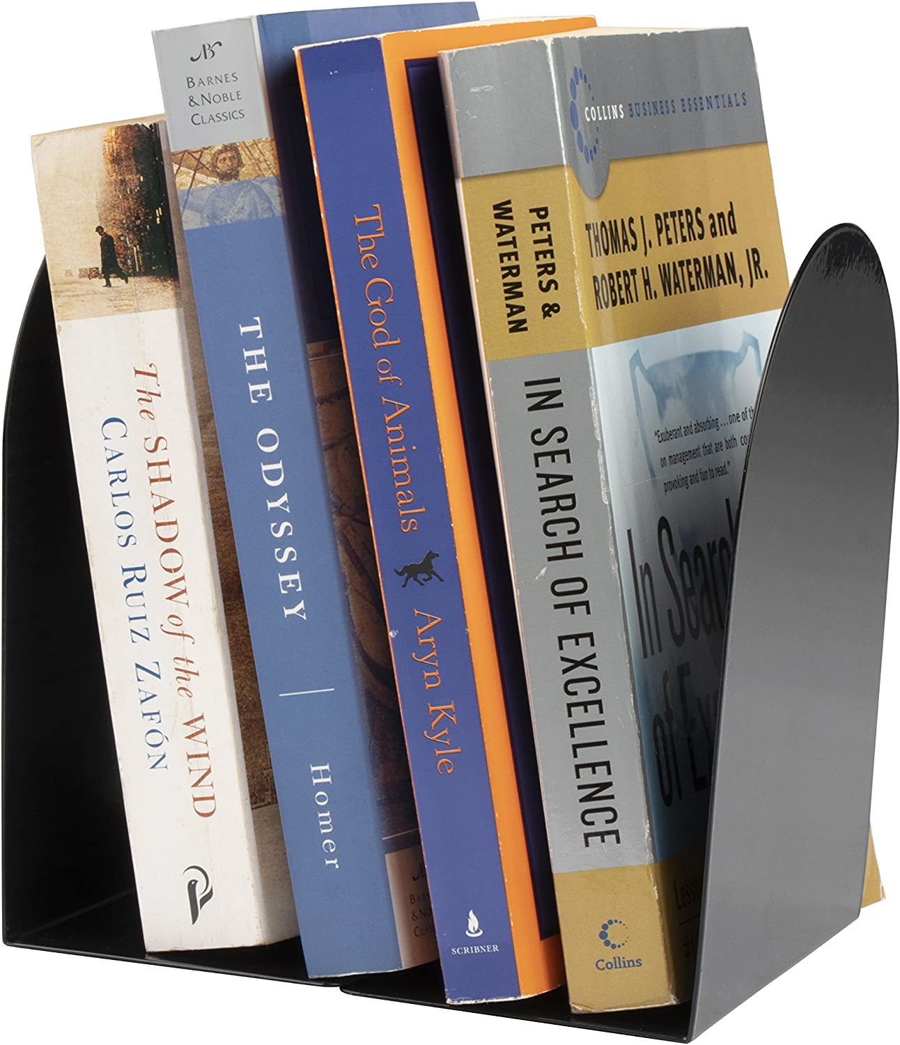 Heavy Duty Nonskid Metal Bookends 3 x 5 x 6.5 Inches Juvale 6 Pairs Book Stoppers for Shelves