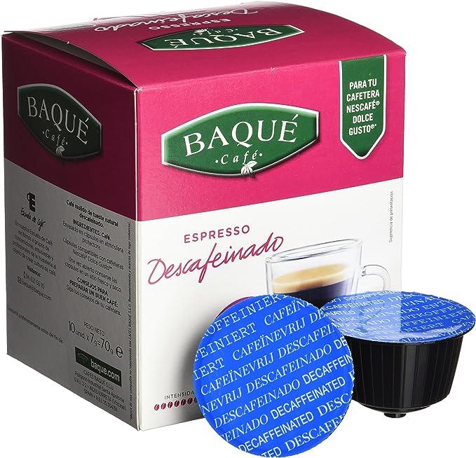 Cafés Baqué - 10 Capsulas Compatibles Dolce Gusto. Espresso ...