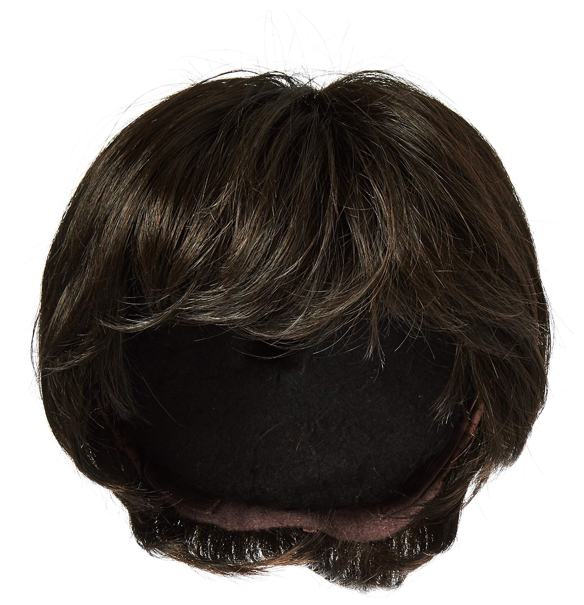Raquel Welch Go for It Boy Cut Short Hair Wig with Longer Layers, R4 Midnight Brown by Hairuwear by Hair u wear