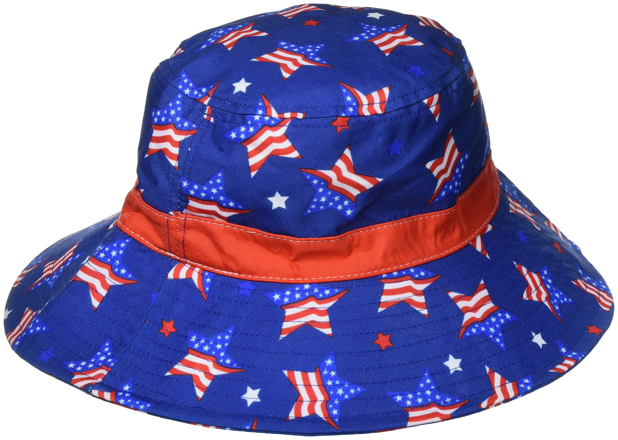 Amscan American Summer Fourth of July Women's Patriotic Bucket Hat Accessory Fabric 4'' x 10'' Costume for Kids