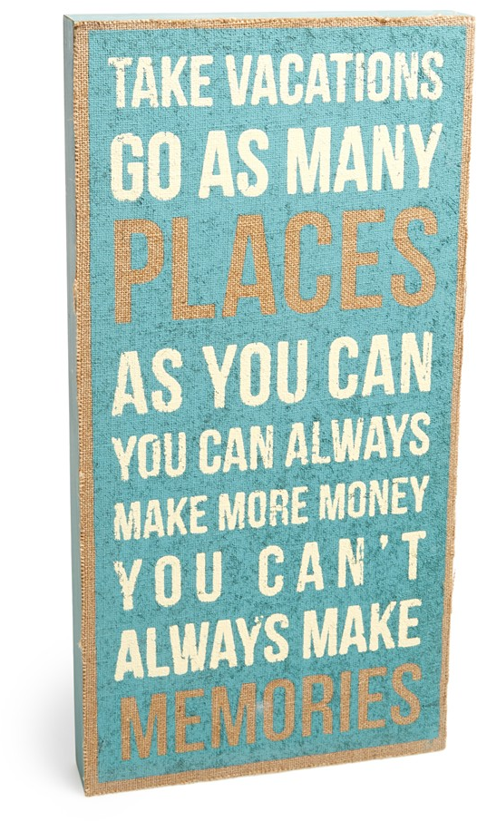 Primitives by Kathy 'Take Vacations' Burlap Box Sign | Nordstrom