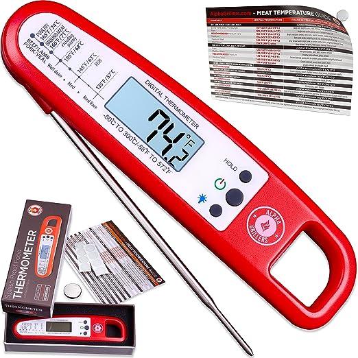 Lectura instantánea termómetro con retroiluminación para carne y ...