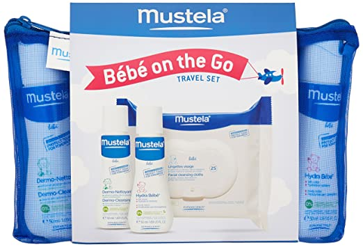 Amazon.com: Mustela Bebe On the Go Gift Set, Baby Skin Care & Baby Bath Products, Travel Size, 3 Items: Luxury Beauty