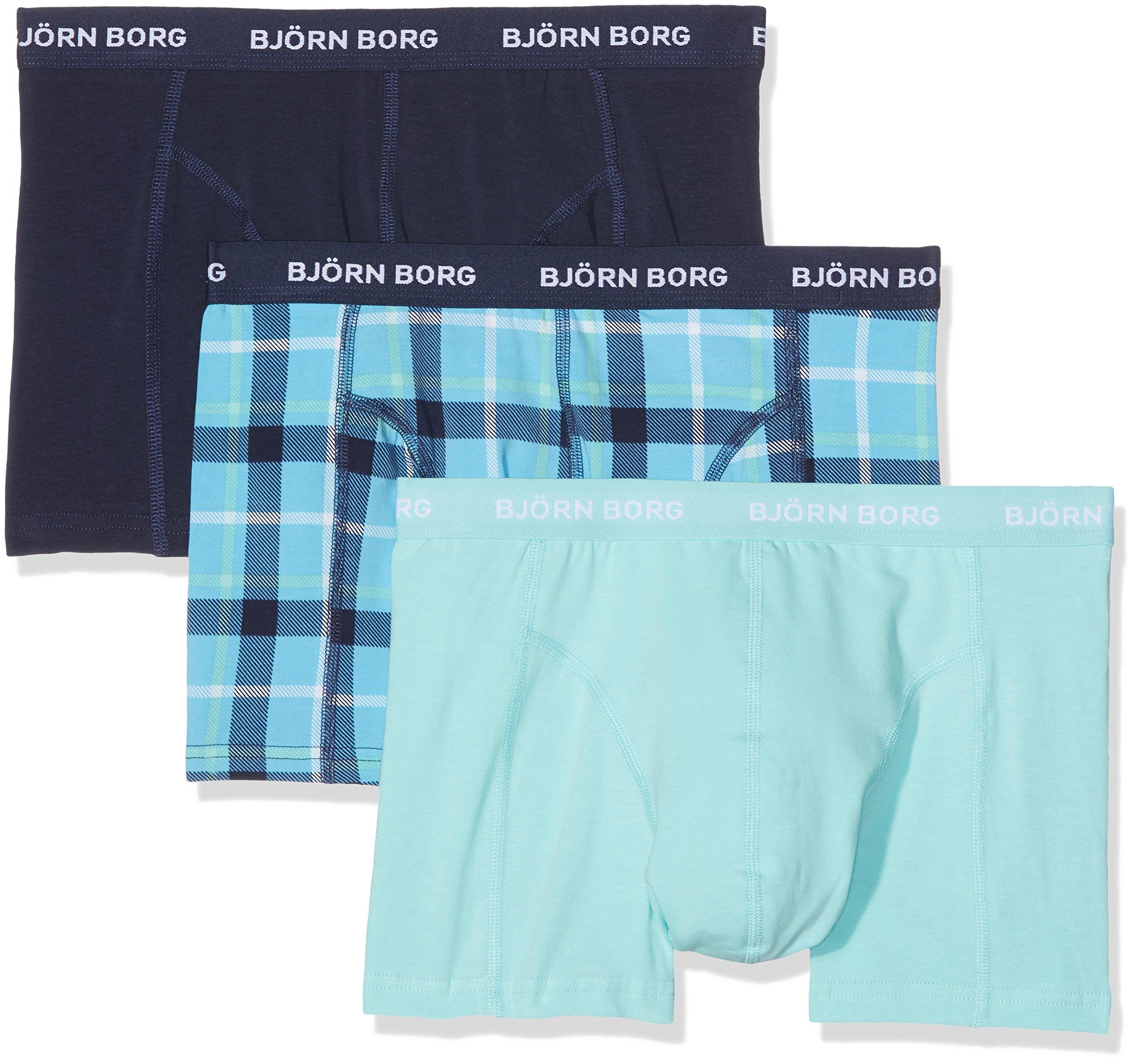 Bjorn Borg Men's 3p Shorts Bb Check, Peacoat, Large