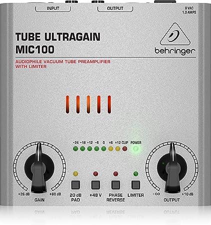 Amazon.com: BEHRINGER TUBE ULTRAGAIN MIC100 ECUALIZADOR ...