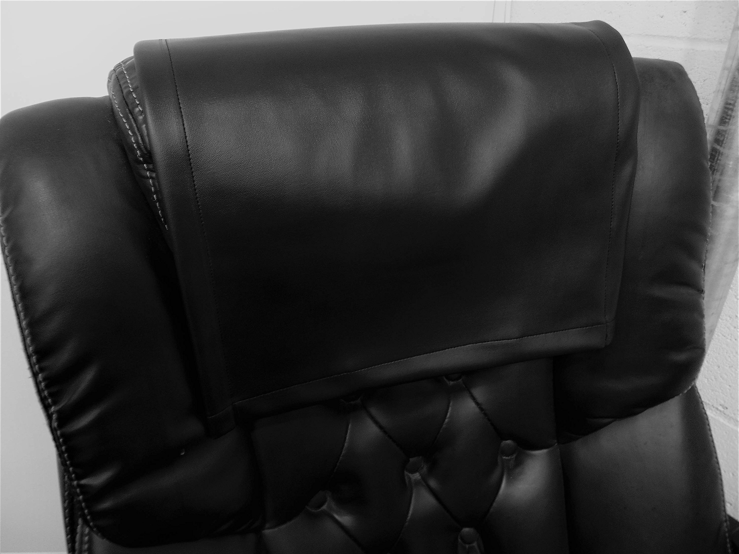 Vinyl, faux leather PVC Black ,15x15 Sofa Loveseat Chaise Theater Seat, RV Cover, Chair Caps Headrest Pad, Recliner Head Cover, Furniture Protector