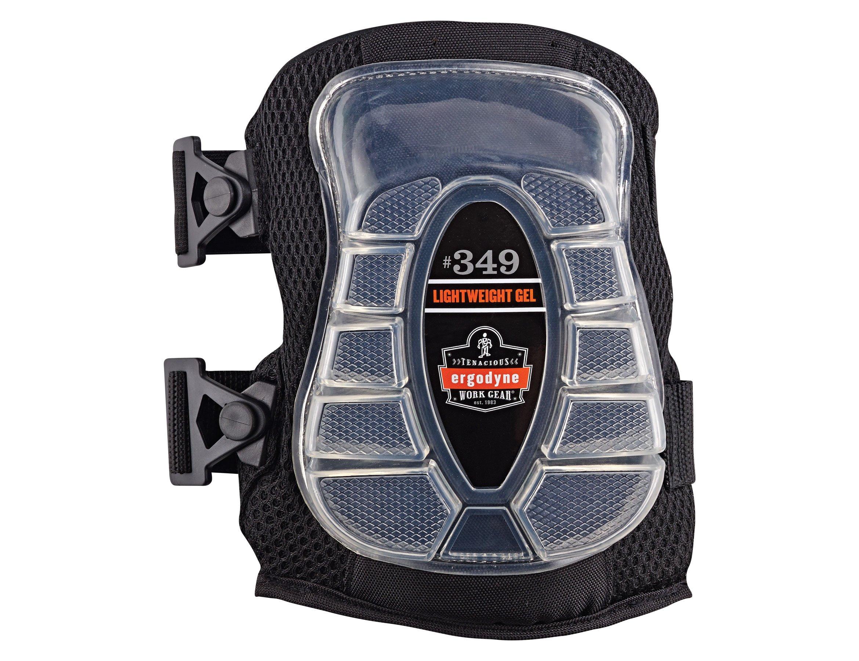 Ergodyne ProFlex 349 Broad Cap Lightweight Gel Knee Pad, Black