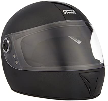 87a301bf Image Unavailable. Image not available for. Colour: Studds Chrome Elite  SUS_CEFFH_BLKXL Full Face Helmet ...