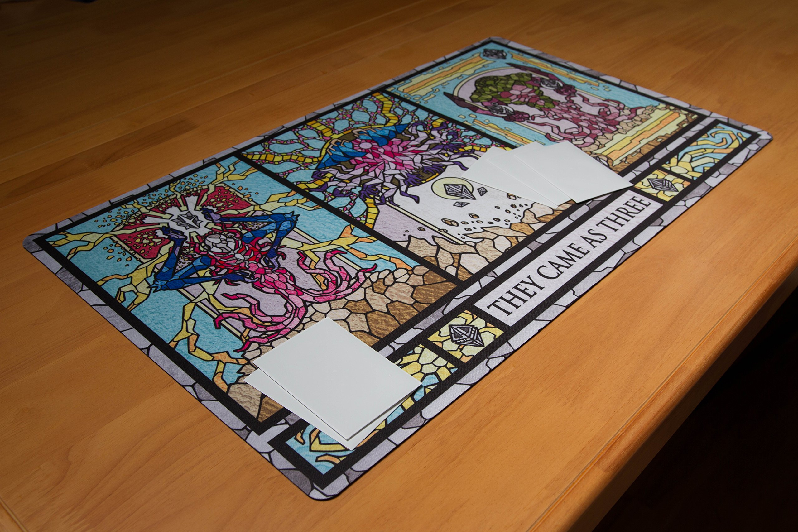 Inked Playmats Stained Glass Titans Card Playmat - Inked Gaming Perfect for Card Gaming TCG Game Mat by Inked Playmats (Image #5)