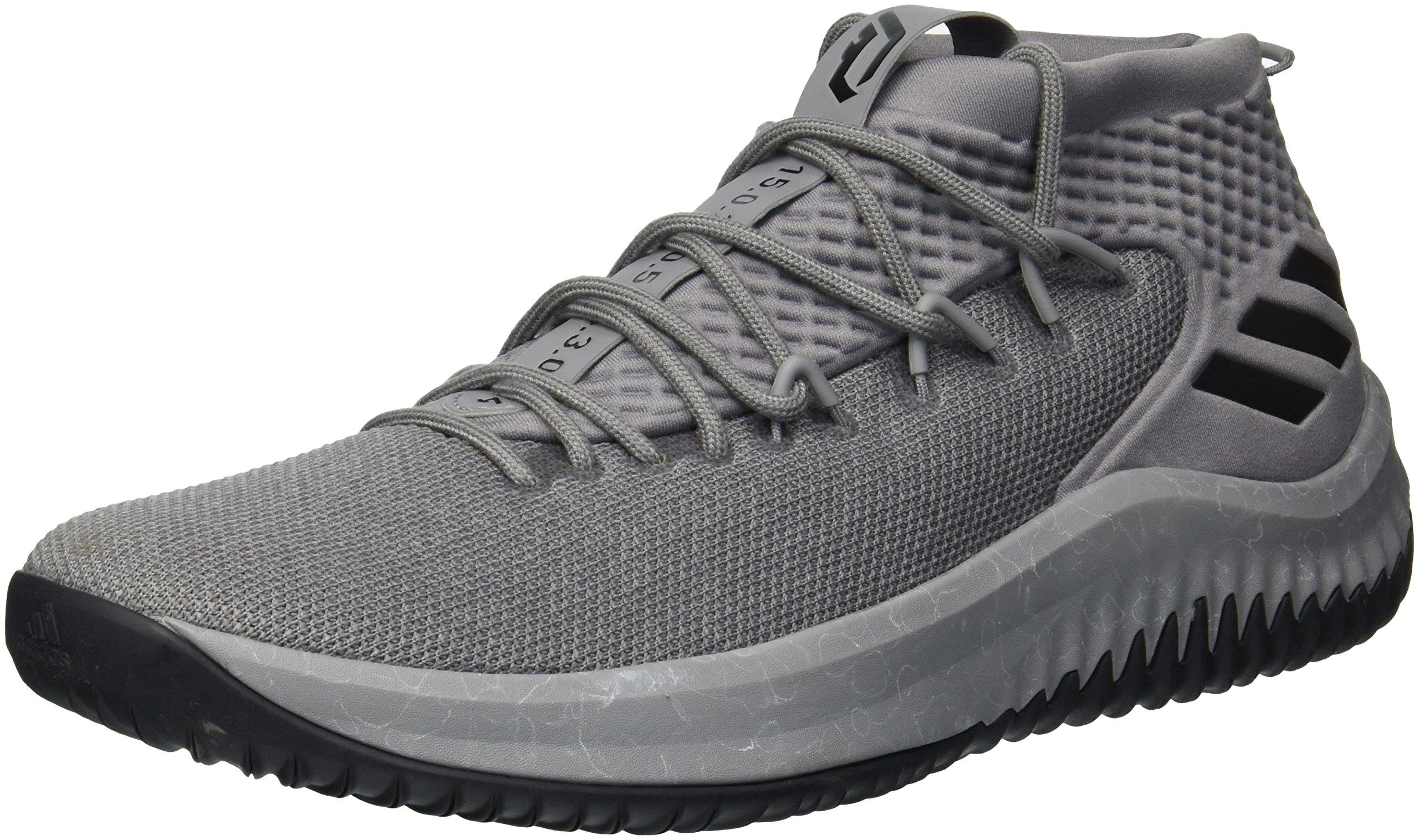 adidas Men's Crazy Time II Football Shoe, Grey Three/Core Black/Grey Two, 9 M US