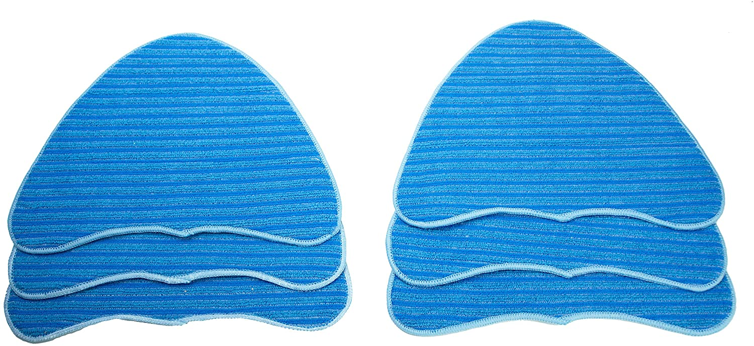 LTWHOME Revolutionary Creation of The Ultra Scrubbing Comportable Using Mop Pads Fit for Vax S2 Series and Hoover WH20200 Steam Mop,Compare to Hoover Part No. WH01000 (Pack of 6)