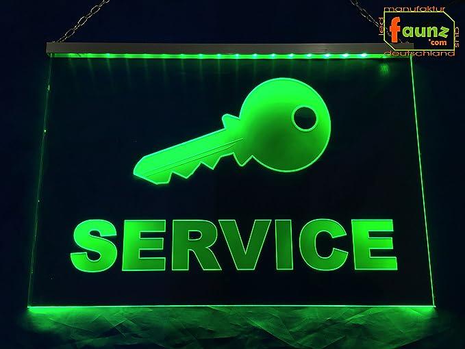 LED Cartel de llaves Service verde o su promocionales con ...