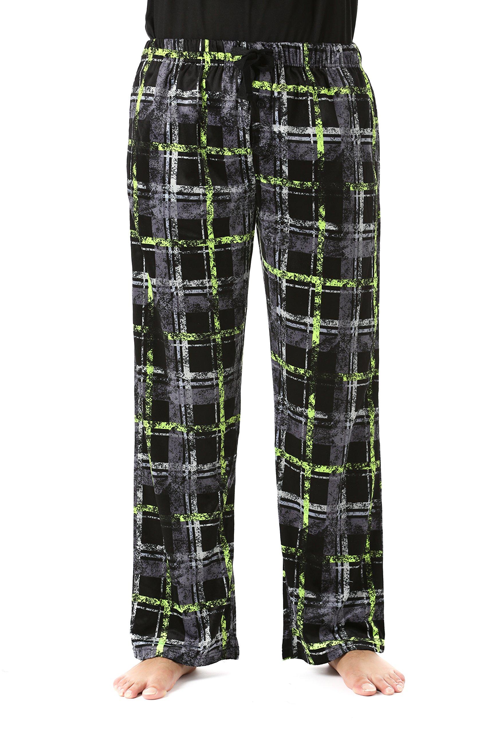 #FollowMe 45903-2C-L Fleece Pajama Pants for Men/Sleepwear/PJs,Plaid 2c,Large by #followme