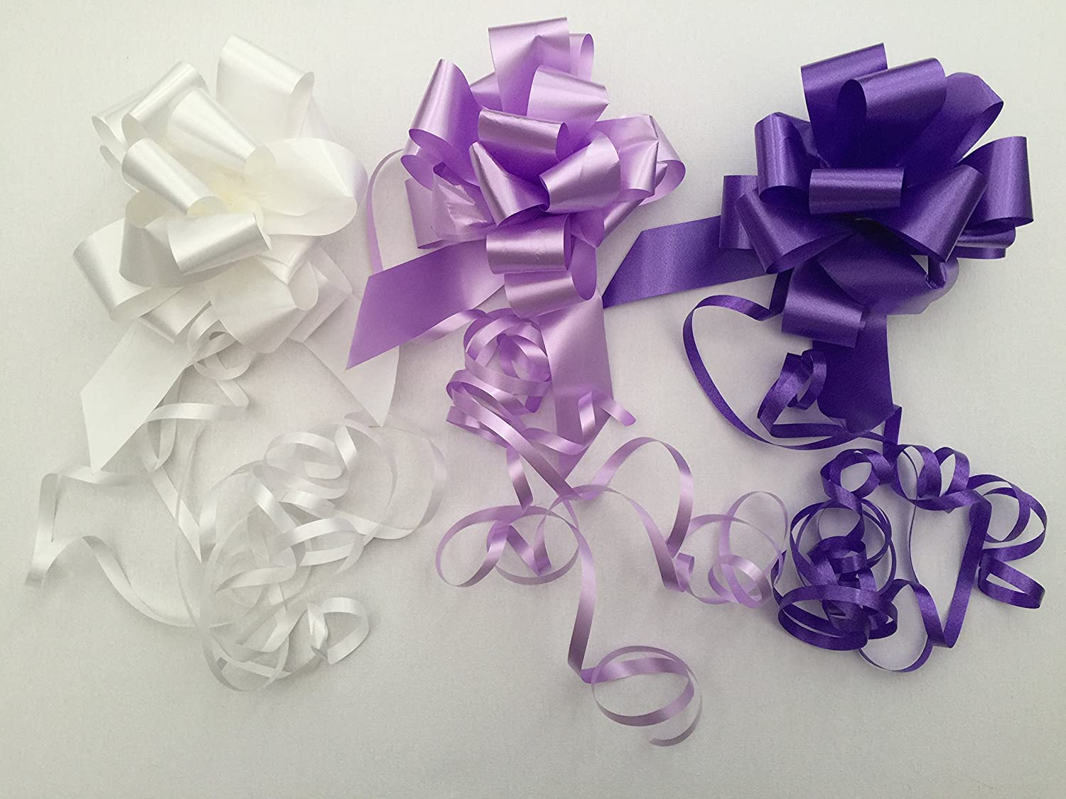 31mm Pull Bow Pack 3. Astic Group Instruction Sheet Packaging - Colours as Picture White,Lilac,Purple (Sent Flat Packed|) DIY-Gift-Baskets