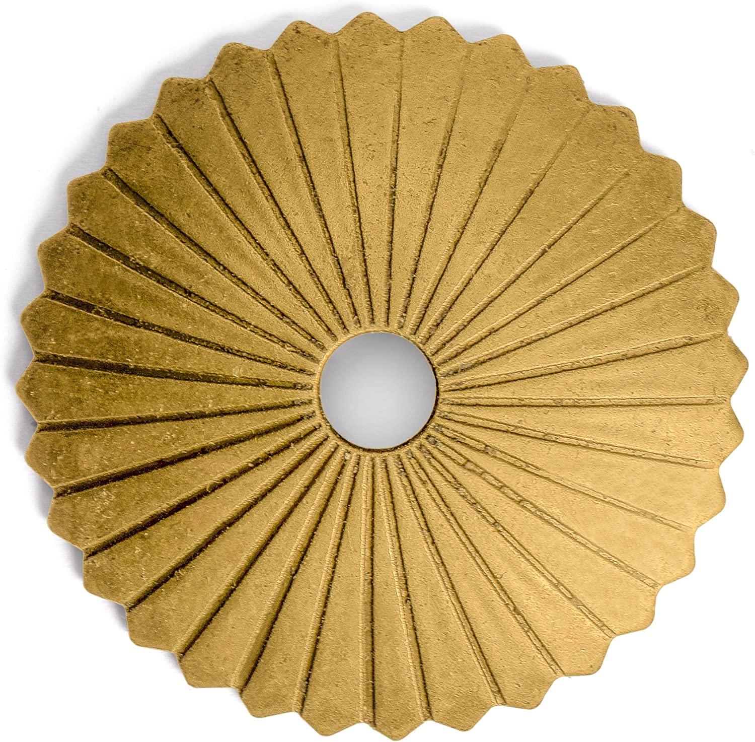 CBH Radial Brass Hardware Backplate Washers 1-1/2
