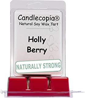 product image for Candlecopia Holly Berry Strongly Scented Hand Poured Vegan Wax Melts, 12 Scented Wax Cubes, 6.4 Ounces in 2 x 6-Packs