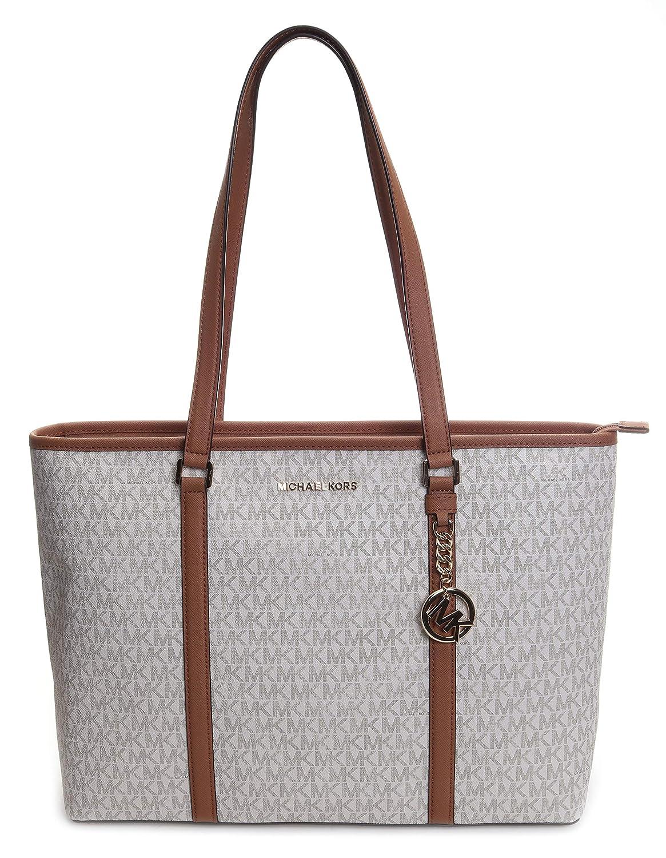 Details zu MICHAEL KORS Tasche TRAVEL CARRYALL Shopper BROWN Taschen Schultertasche neu