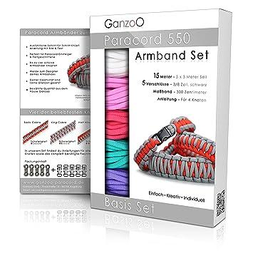 ganzoo paracord 550 armband set selbst knupfen knupf anleitung diy bracelet geschenk