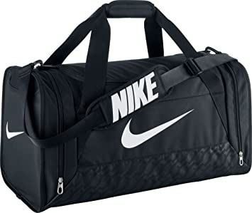 Nike Brasilia 6 Duffel Bag Black/White Size Small