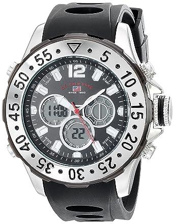U.S.POLO ASSN. US9403 - Reloj de Pulsera Hombre, Silicona, Color ...