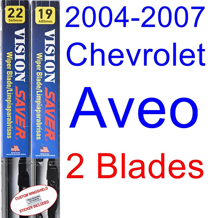 Amazon.com: 2004-2007 Chevrolet Aveo Replacement Wiper Blade Set/Kit (Set of 2 Blades) (Saver Automotive Products-Vision Saver) (2005,2006): Automotive
