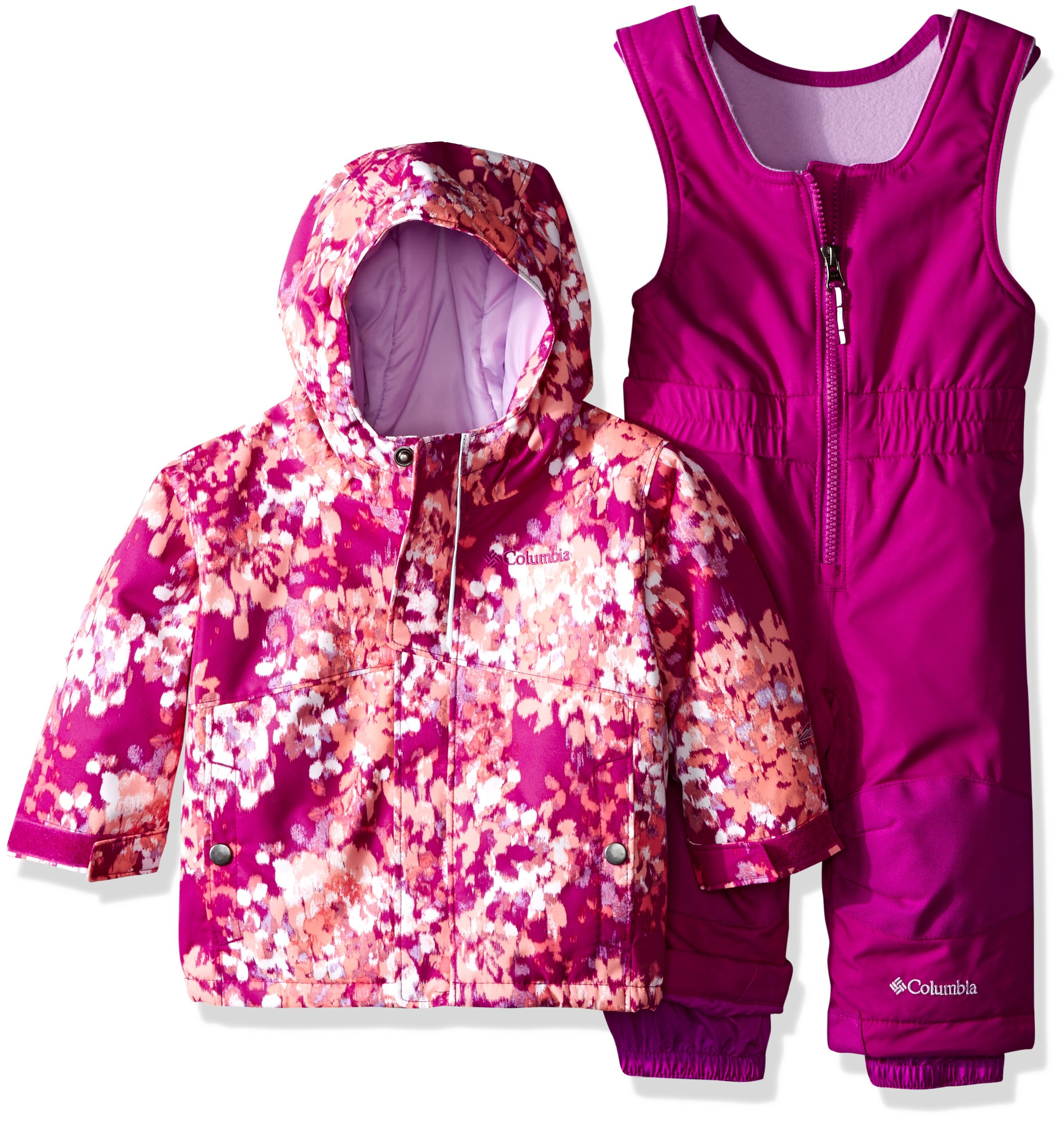 Columbia Baby Buga Snow Set, Bright Plum Watercolor, 6-12 Months
