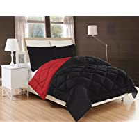 Elegant Comfort All Season Comforter and Year Round Medium Weight Super Soft Down Alternative Reversible 3-Piece Comforter Set- Available in and Many Colors