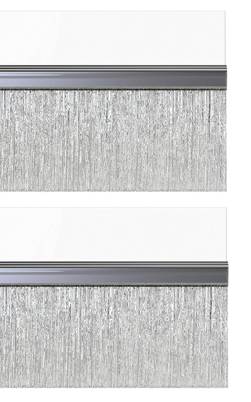 STORMGUARD 02AM0031000CL BDS Self Adhesive Bottom of The Door Brush Draught Seal, Clear, 1 m, Set of 2 Pieces Srormguard