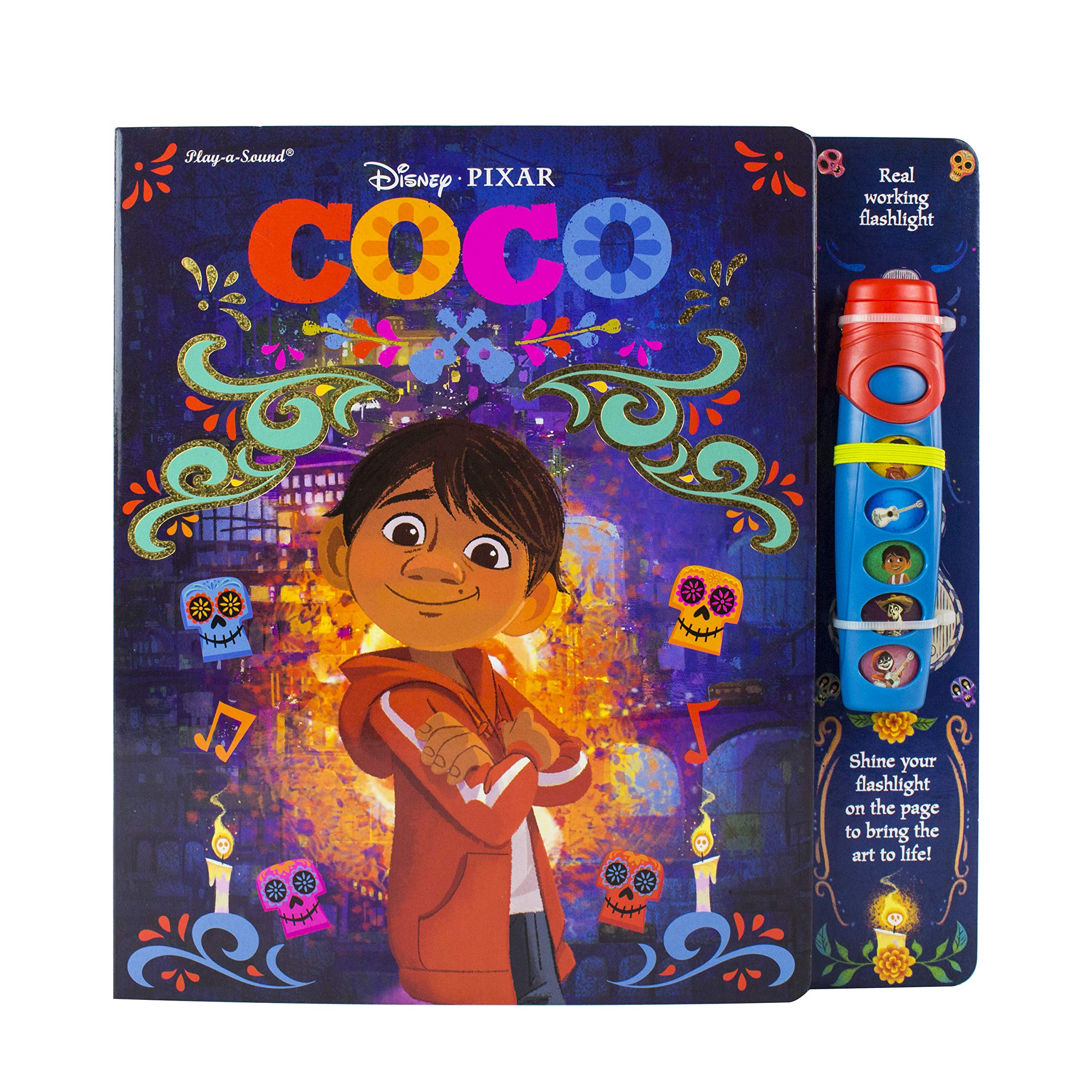 Disney Pixar Coco Flashlight Adventure Sound Book Pi Kids