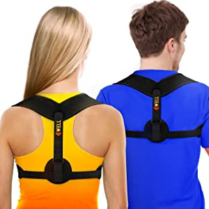 NEW 4WELL Posture Corrector for Women & Men - Posture Brace Strap - Comfortable Spinal Alignment Posture Support - Adjustable Better Back Straightener - Slouching Brace Fixer