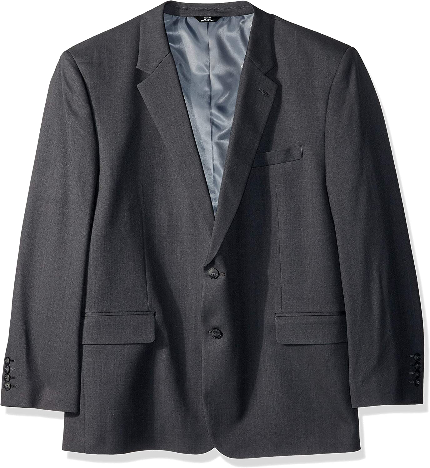 Haggar Men's Big and Tall B&T Stria Tic Stretch Classic Fit Suit Separate Coat, Dark Grey Heather, 56R