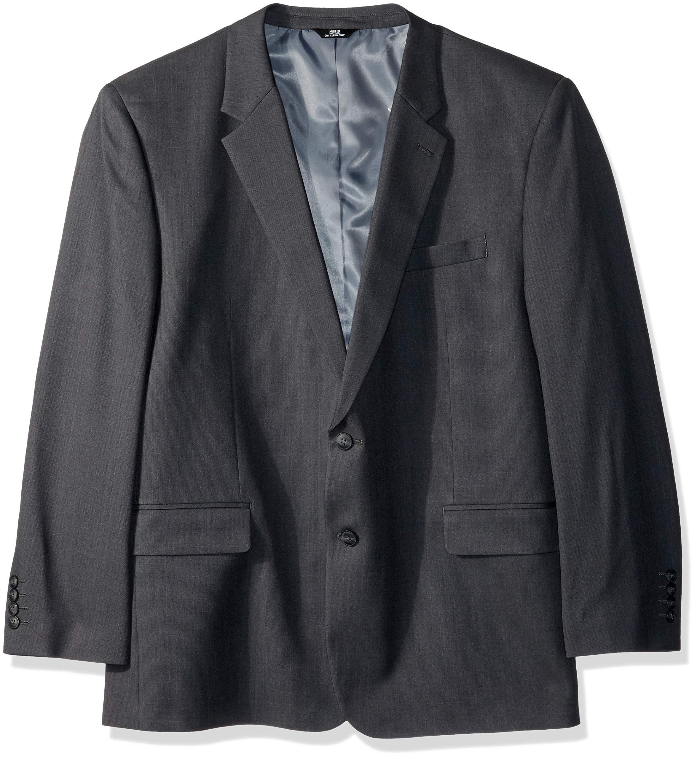 Haggar Men's Big and Tall B&T Stria Tic Stretch Classic Fit Suit Separate Coat, Dark Grey Heather, 52R