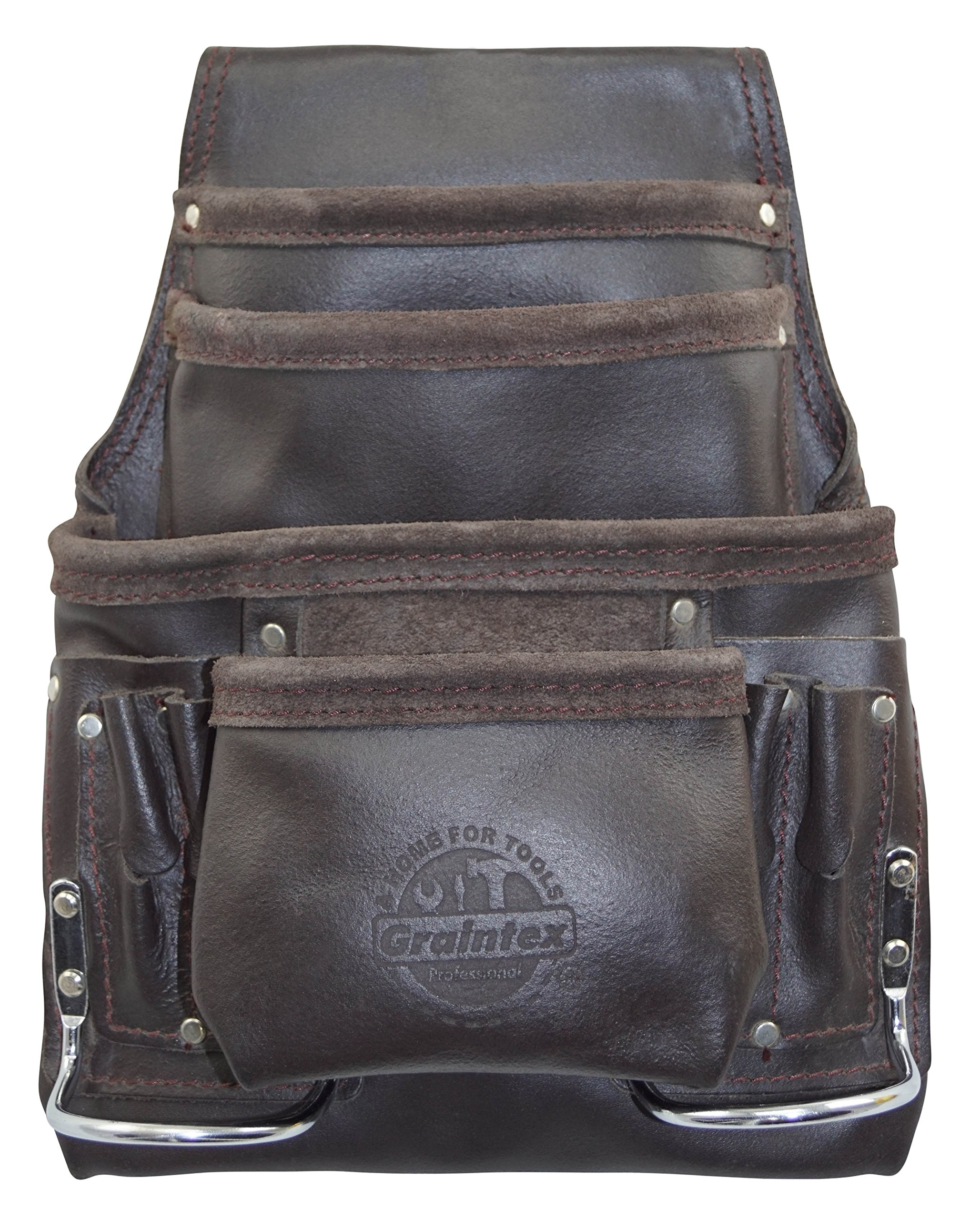 Graintex PS1234 10 Pocket Tool Pouch Oil Tanned Leather by Graintex