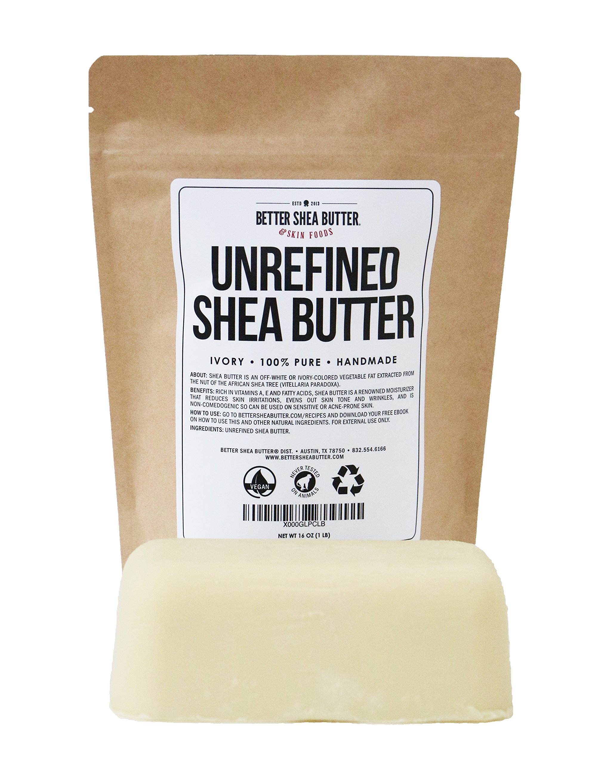 Unrefined Shea Butter by Better Shea Butter - Ivory - 1 lb