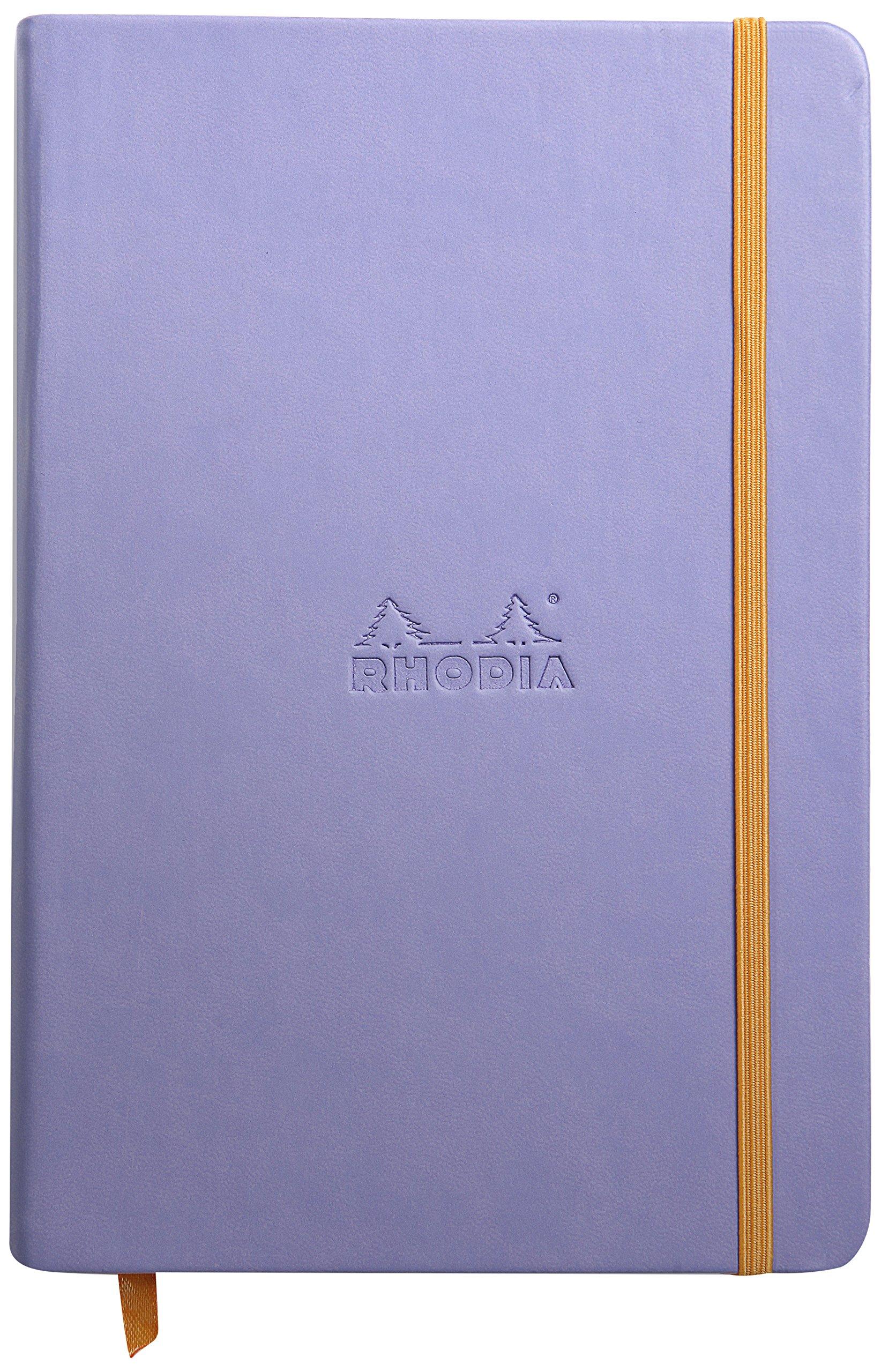 Rhodia Rhodiarama A5 Webnotebook, 5.5 in x 8.25, Lined - Iris (118749)
