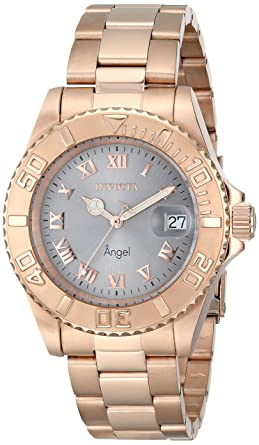 Invicta Womens 14368 Angel Analog Display Swiss Quartz Rose Gold Watch