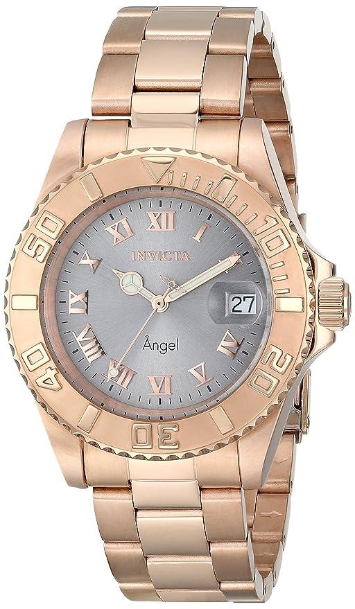 Amazon.com: Invicta Womens 14368 Angel Analog Display Swiss Quartz Rose Gold Watch: Invicta: Watches