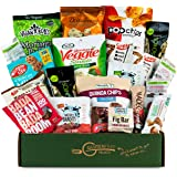 Healthy VEGAN Care Package [20 Count] Plant-based Gluten Free, Dairy Free, Non-GMO Cookies, Bars, Chips, Puffs, Fruit & Nuts. Healthy Snack Pack, Snack Attack Sympathy Gift Baskets
