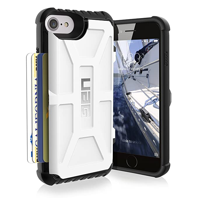 sports shoes 301e4 a9be5 UAG iPhone 8 / iPhone 7 / iPhone 6s [4.7-inch screen] Trooper Feather-Light  Rugged Card Case [WHITE] Military Drop Tested iPhone Case