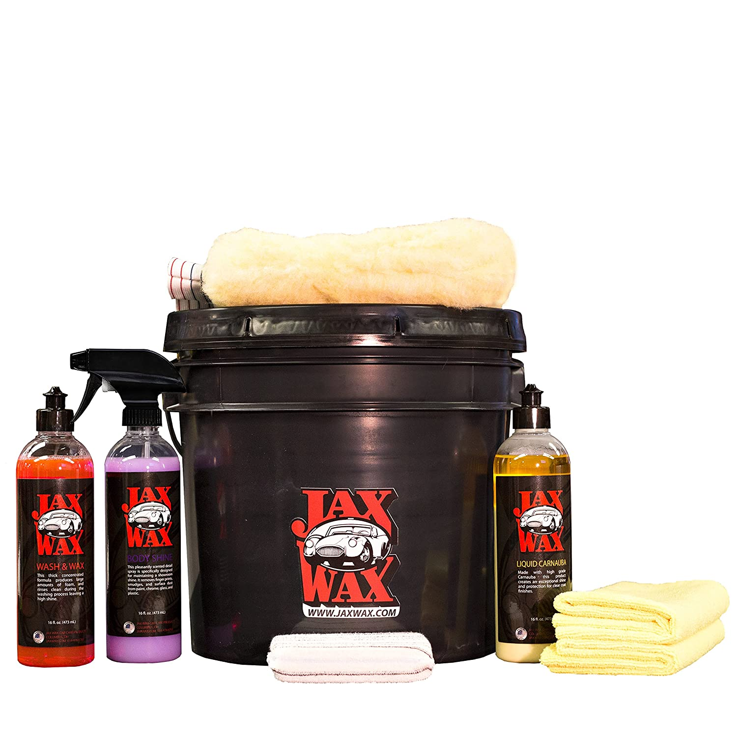 Jax Wax Professional Easy Wash and Wax Car Care Bucket Organizer Kit 4332943700